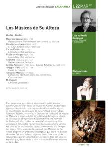 Hospedería Fonseca Salamanca Barroca 2020-2021 Los músicos de su alteza Universidad de Salamanca Marzo
