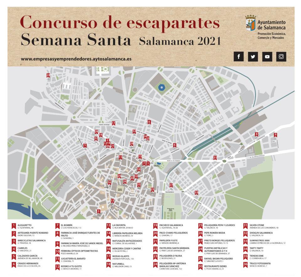 Salamanca Concurso de Escaparates de Semana Santa Marzo abril 2021