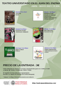 Aula Teatro Juan del Enzina Teatro universitario en el Juan del Enzina Salamanca Abril mayo 2021