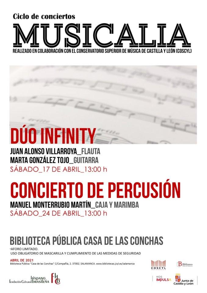 Casa de las Conchas Musicalia 2021 Salamanca Abril 2021