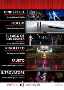 Cines Van Dyck Ópera y Ballet Abril mayo 2021 Salamanca