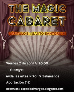 Espacio Almargen The magic cabaret 2 de abril de 2021 Salamanca