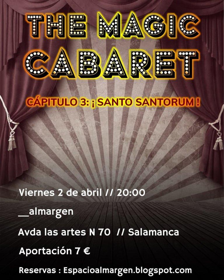 Espacio Almargen The magic cabaret 2 de abril de 2021 Salamanca