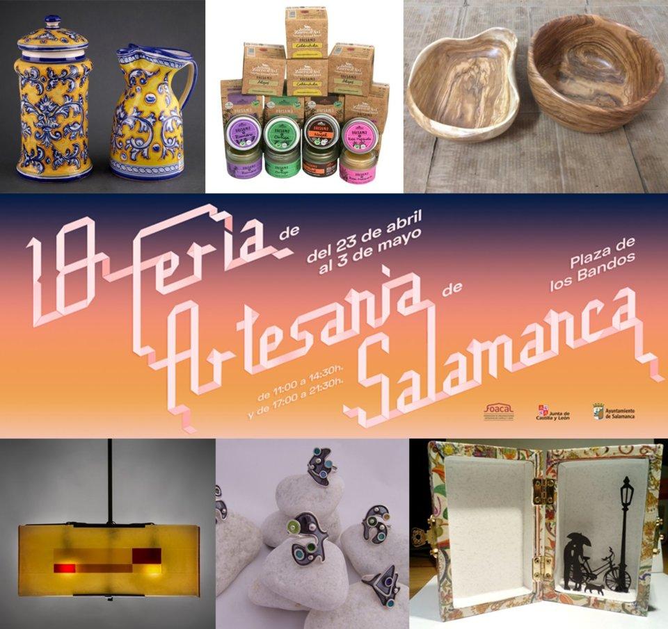 Plaza de los Bandos XVIII Feria Nacional de Artesanía Salamanca Abril mayo 2021
