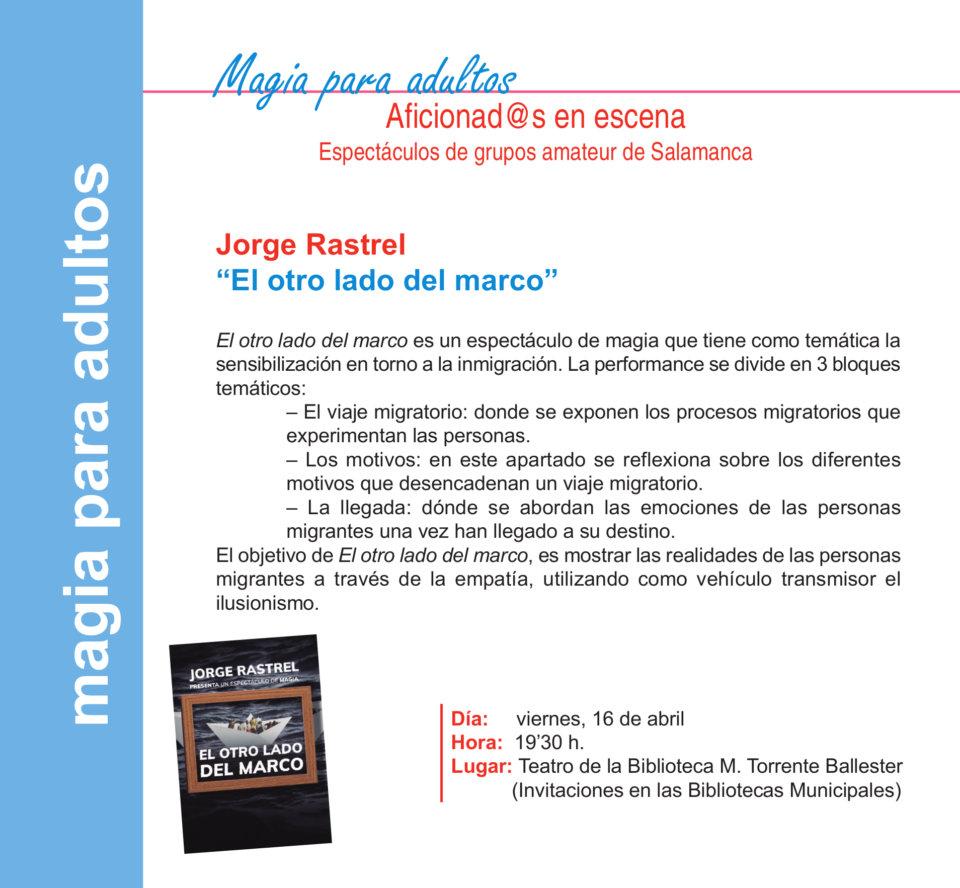 Torrente Ballester Jorge Rastrel Salamanca Abril 2021