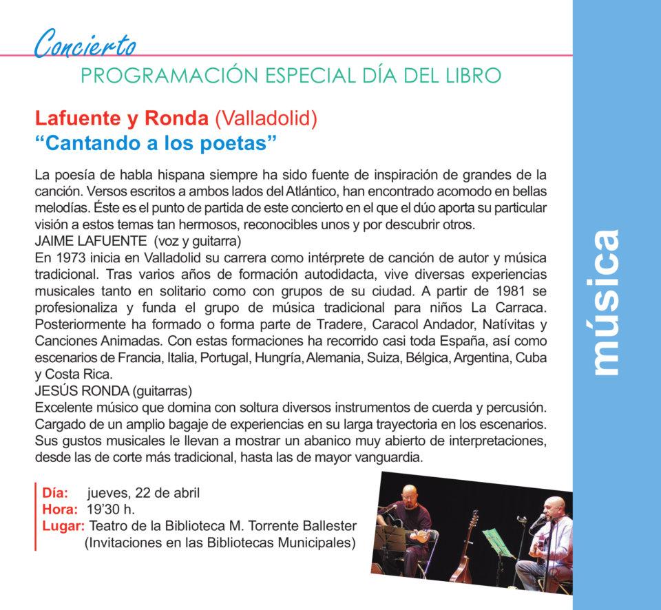 Torrente Ballester Lafuente y Ronda Salamanca Abril 2021