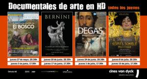 Cines Van Dyck Documentales de Arte Salamanca Mayo junio julio 2021