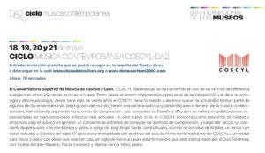 Domus Artium 2002 DA2 Ciclo de Música Contemporánea Salamanca Mayo 2021