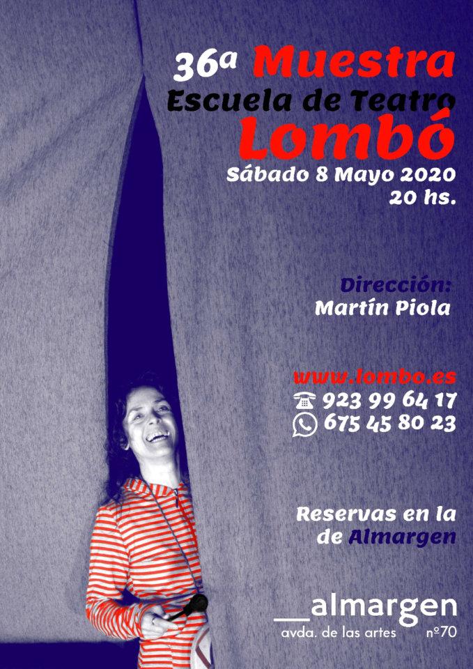 Espacio Almargen XXXVI Muestra de la Escuela de Teatro Lombó Salamanca Mayo 2021