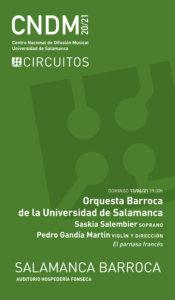 Hospedería Fonseca Salamanca Barroca 2020-2021 Orquesta Barroca de la Universidad de Salamanca Junio