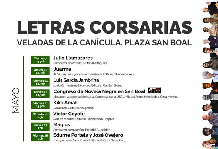 Letras Corsarias Veladas de la Canícula Salamanca Mayo 2021