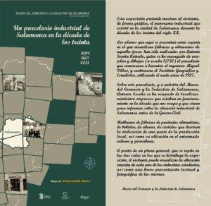 Museo del Comercio y de la Industria Un parcelario industrial de Salamanca en la década de los treinta Salamanca 2021