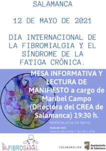 Plaza del Liceo Día Internacional de la Fibromialgia y Síndrome de Fatiga Crónica Salamanca Mayo 2021