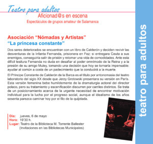 Torrente Ballester Asociación Nómadas y Artistas Salamanca Mayo 2021