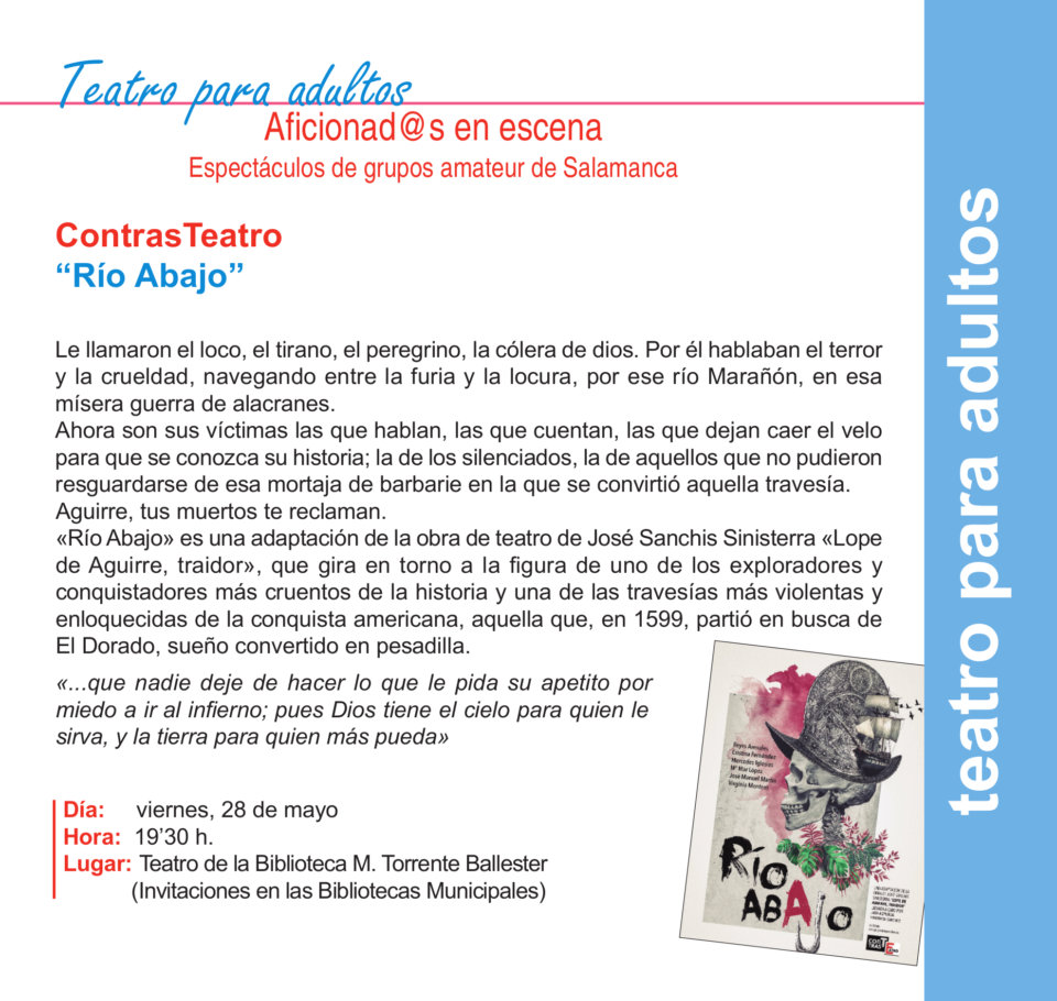 Torrente Ballester ContrasTeatro Salamanca Mayo 2021