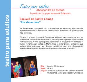Torrente Ballester Escuela de Teatro Lombó Salamanca Mayo 2021