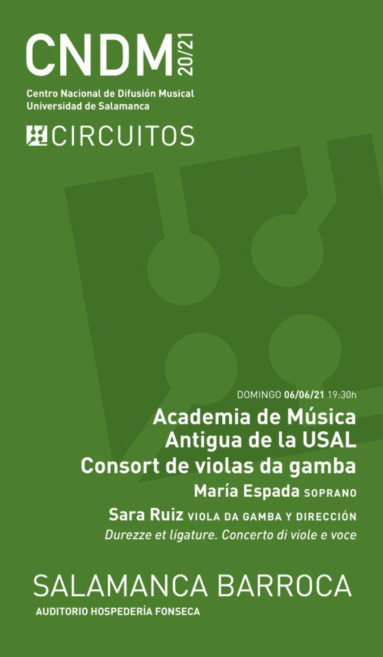 Hospedería Fonseca Salamanca Barroca 2020-2021 Consort de Violas da Gamba Junio