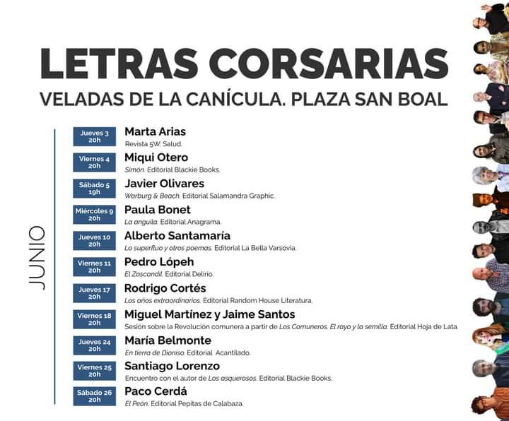 Letras Corsarias Veladas de la Canícula Salamanca Junio 2021