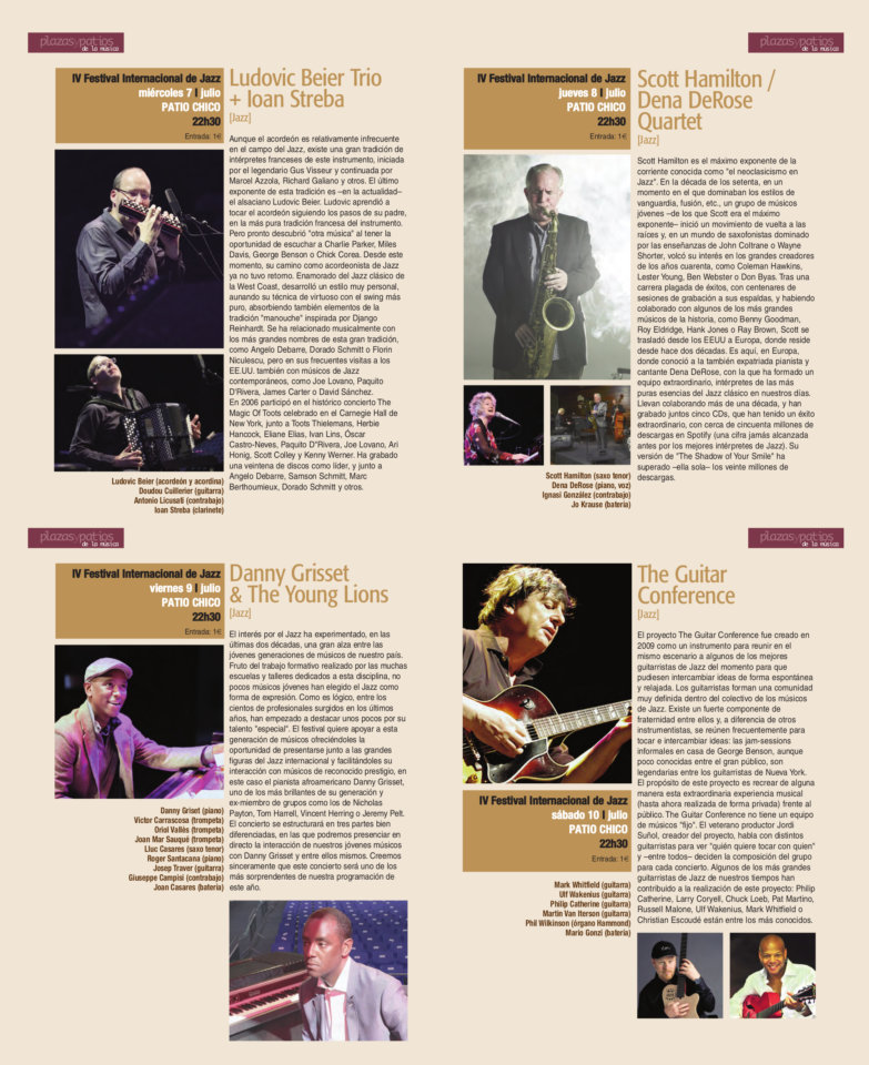 Patio Chico IV Festival Internacional de Jazz Salamanca Plazas y Patios 2021 Julio