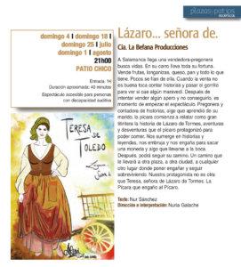 Patio Chico Lázaro... señora de Salamanca Plazas y Patios 2021 Julio agosto