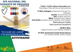 Salamanca Día Nacional del Donante de Órganos Junio 2021
