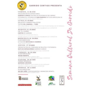 Salamanca Semana Cultural de Garrido Junio 2021