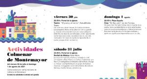 Colmenar de Montemayor Noches de Cultura Julio agosto 2021