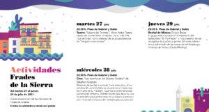 Frades de la Sierra Noches de Cultura Julio 2021