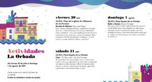 La Orbada Noches de Cultura Julio agosto 2021