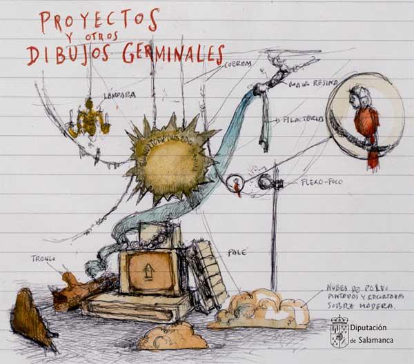 La Salina Proyectos y otros dibujos germinales Salamanca Julio agosto 2021
