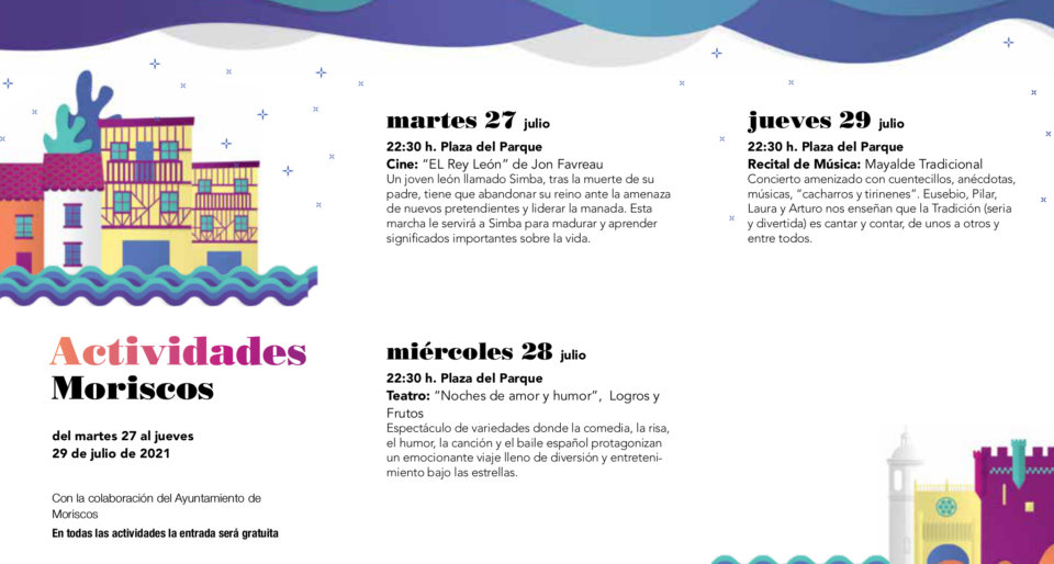 Moriscos Noches de Cultura Julio 2021