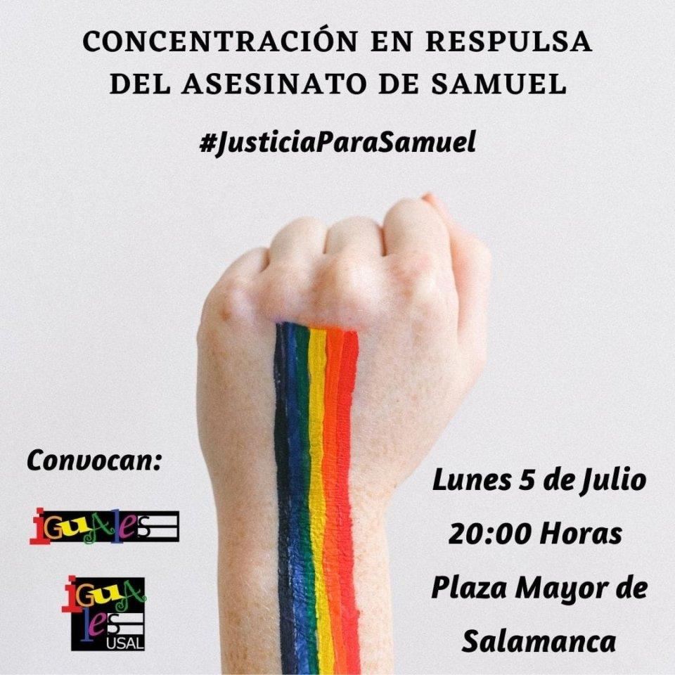 Plaza Mayor Concentración en Repulsa del Asesinato de Samuel Salamanca Julio 2021