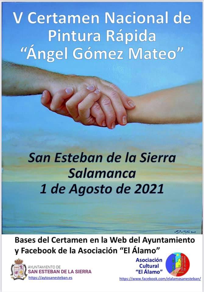 San Esteban de la Sierra V Certamen Nacional de Pintura Rápida Ángel Gómez Mateo Agosto 2021