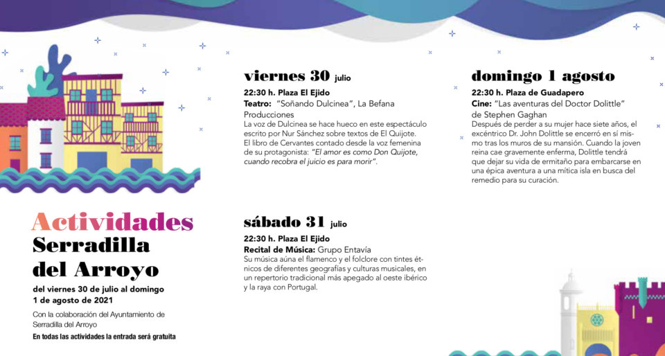 Serradilla del Arroyo Noches de Cultura Julio agosto 2021