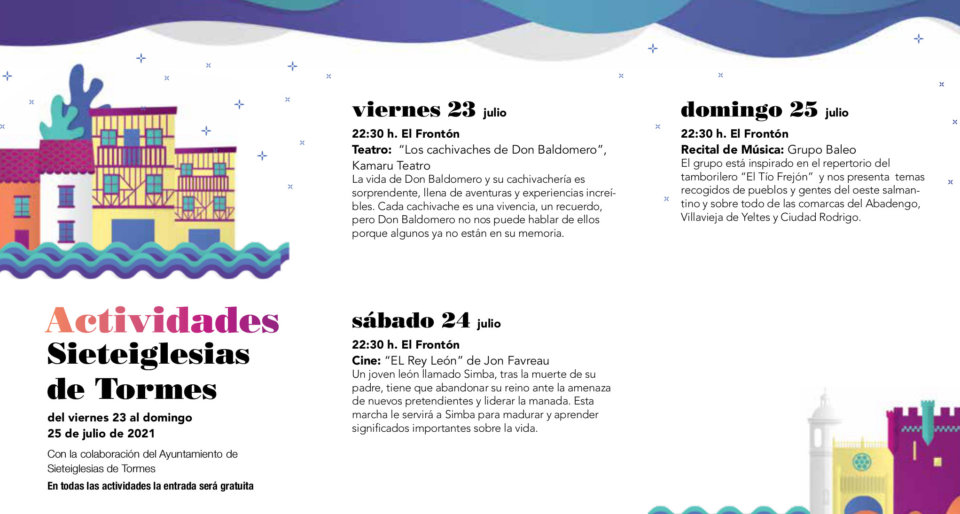 Sieteiglesias de Tormes Noches de Cultura Julio 2021