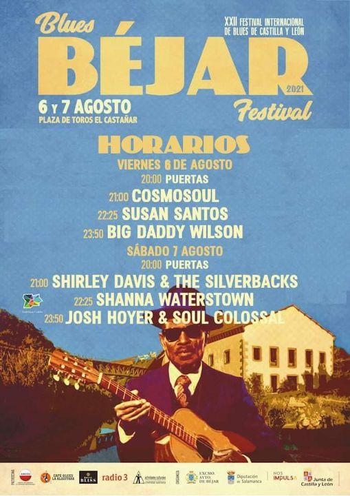 Béjar XXII Festival Internacional de Blues de Castilla y León Blues Béjar Festival 2021 Agosto