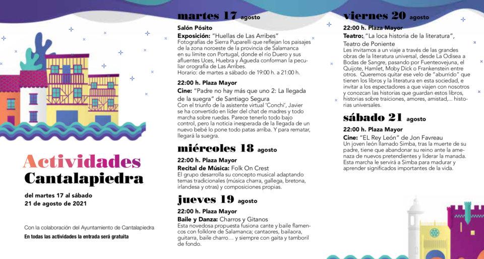 Cantalapiedra Noches de Cultura Agosto 2021