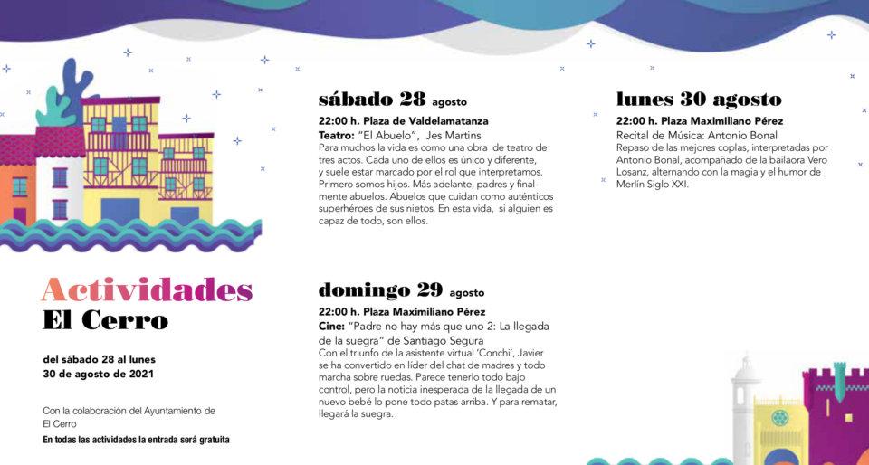El Cerro Noches de Cultura Agosto 2021