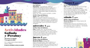 Galindo y Perahuy Noches de Cultura Agosto 2021