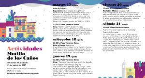 Matilla de los Caños del Río Noches de Cultura Agosto 2021
