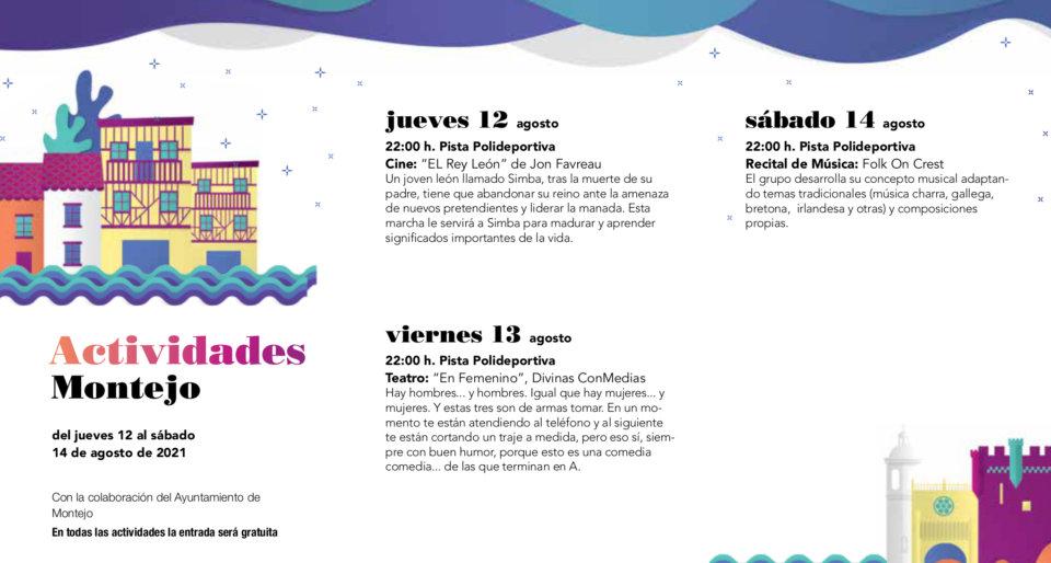 Montejo Noches de Cultura Agosto 2021