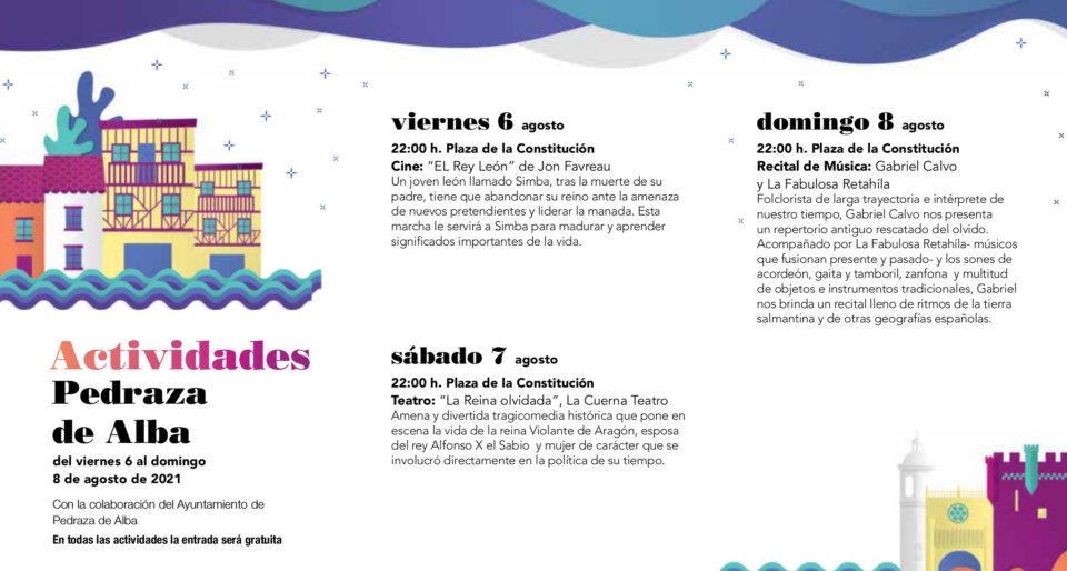 Pedraza de Alba Noches de Cultura Agosto 2021