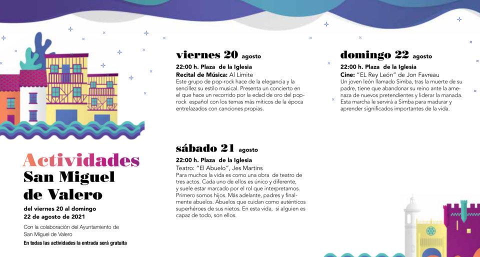 San Miguel de Valero Noches de Cultura Agosto 2021