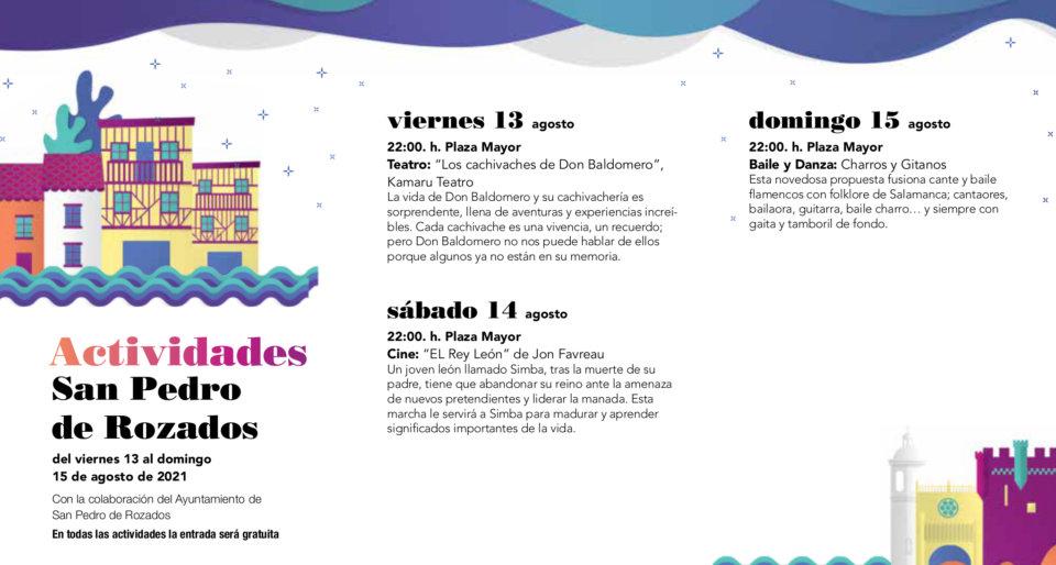 San Pedro de Rozados Noches de Cultura Agosto 2021