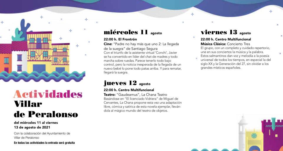 Villar de Peralonso Noches de Cultura Agosto 2021