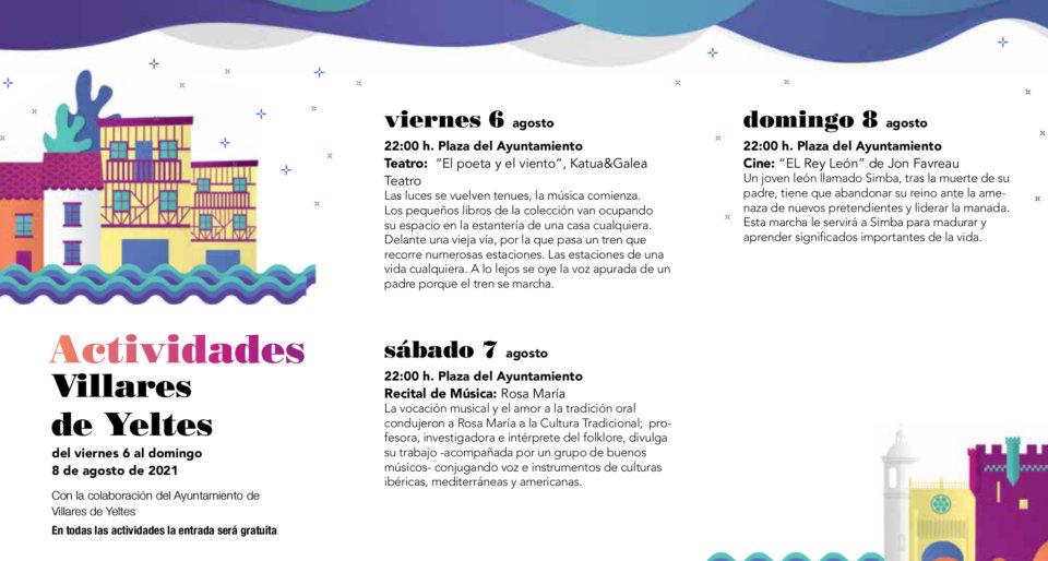 Villares de Yeltes Noches de Cultura Agosto 2021