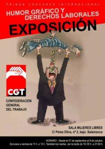 CGT I Concurso Internacional Humor Gráfico y Derechos Laborales Salamanca Septiembre octubre 2021
