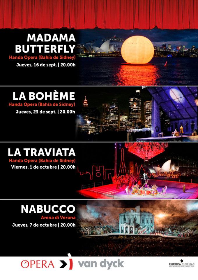 Cines Van Dyck Ópera y Ballet Salamanca Septiembre octubre 2021