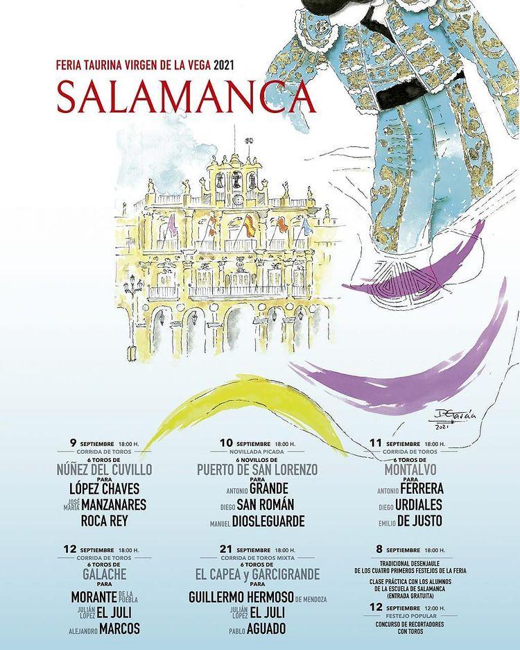 Ferias y Fiestas 2021 Feria Taurina Virgen de la Vega Salamanca Septiembre