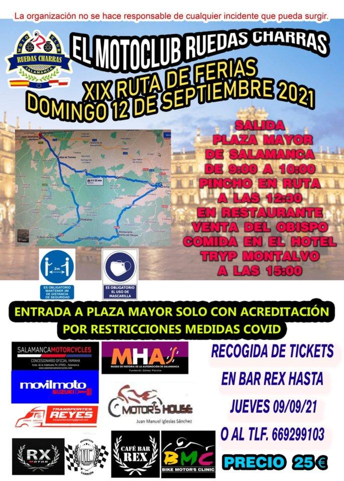 Ferias y Fiestas 2021 XIX Ruta de Ferias Salamanca Septiembre